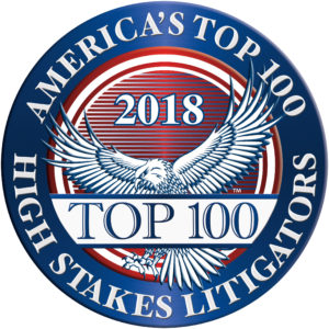 America's Top 100High Stakes Litigators 2018® Recipient Award